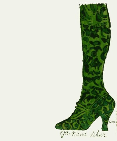 Andy Warhol, 'Gee, Merrie Shoes (Green)', ca. 1956