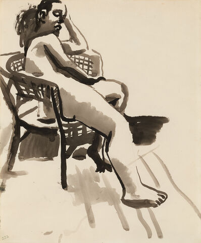 David Park, 'Nude in Chair', ca. 1955