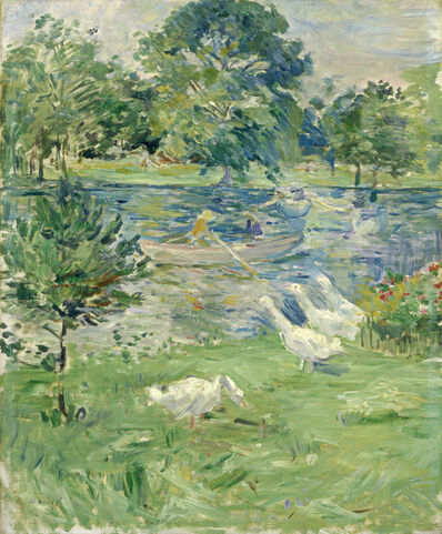 Berthe Morisot, 'Girl in a Boat with Geese', ca. 1889
