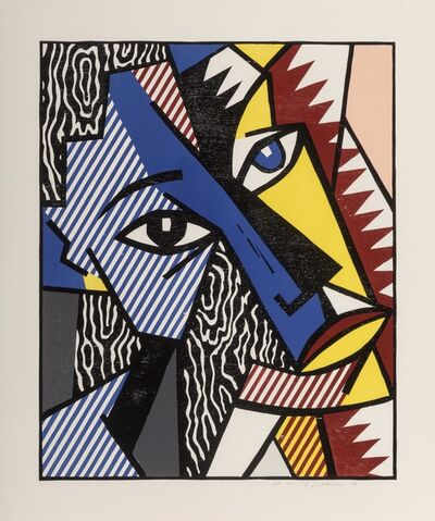 Roy Lichtenstein, 'Head, from Expressionist Woodcut Series', 1980