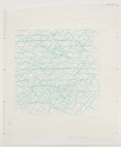 Vera Molnar, 'Inclinaisions', 1971