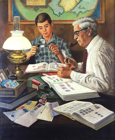 Stevan Dohanos, 'The Stamp Collector, Saturday Evening Post Cover', 1954