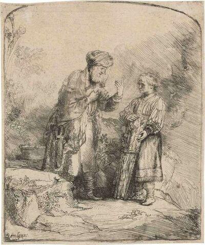 Rembrandt van Rijn, 'Abraham And Isaac (Bartsch, Hollstein 34; Hind 214; New Hollstein 224)', 1645