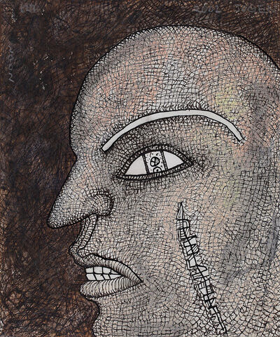 Jogen Chowdhury, 'Face in Agony', 2002