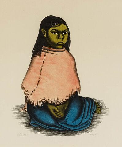 Elizabeth Catlett, 'Sentado Niña', 1951
