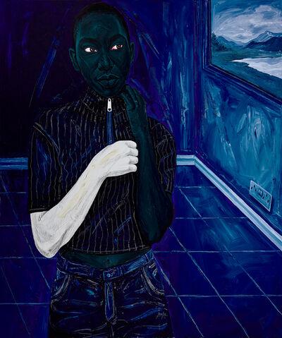 Annan Affotey, 'Cool blue window', 2021