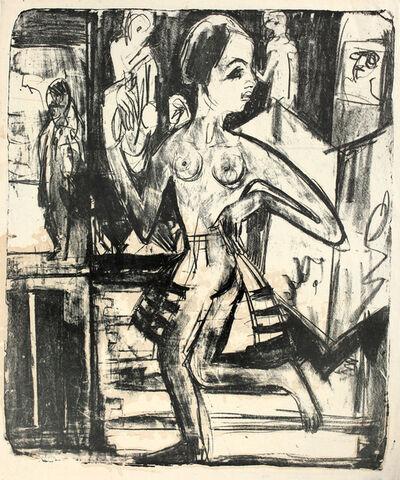 Ernst Ludwig Kirchner, 'Nackttänzerin ', 1921