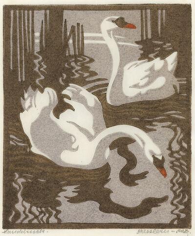 Norbertine Bresslern-Roth, 'Swans (Mute Swans)', 1931