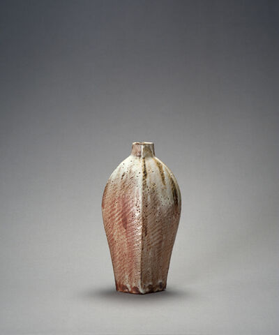 Ken Matsuzaki, 'Diamond vase, yohen shino glaze'
