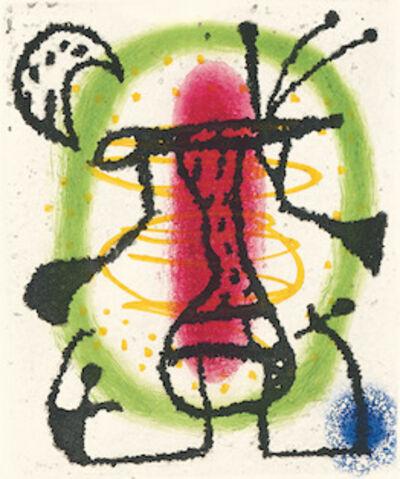 Joan Miró, 'Suite La Bague D'Aurore - plate 14', 1957