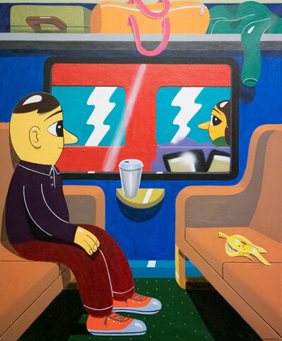 HuskMitNavn, 'Train Scene', 2019