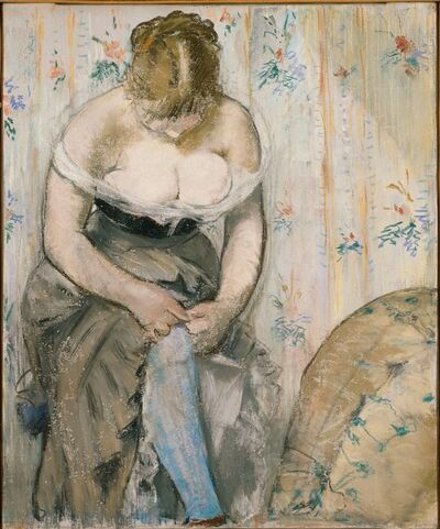 Édouard Manet, ' At the Toilet. Woman Fastening Her Garter', 1878