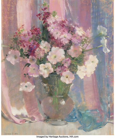 Laura Coombs Hills, 'Still Life with Petunias'