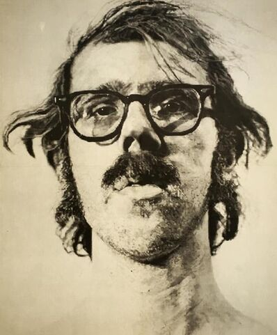Chuck Close, 'Chuck Close Big Self Portrait exhibit poster ', 1973