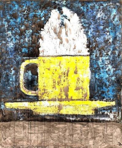 Aaron Fink, 'Very Large Coffee Cup Painting by Aaron Fink', 1980-1989