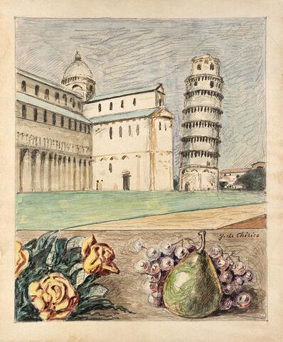 Giorgio de Chirico, 'Veduta di Pisa con fiori e frutta d'Italia', 1966