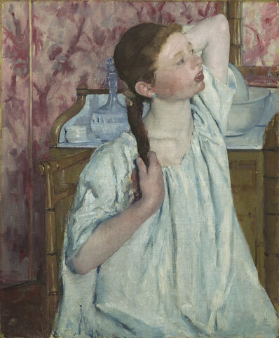 Mary Cassatt, 'Girl Arranging Her Hair', 1886