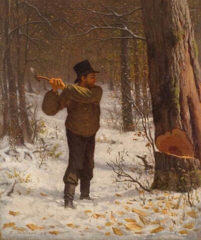 Eastman Johnson, 'The Wood Chopper', 1868