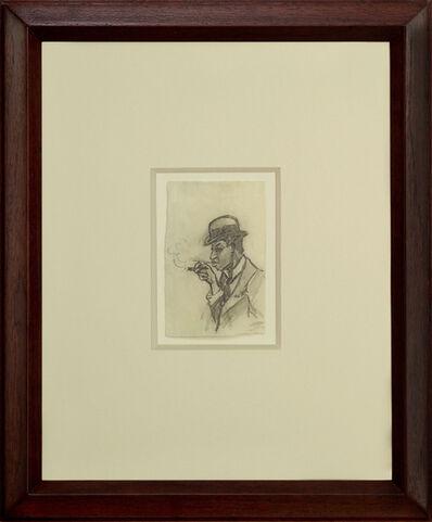 Edward Hopper, 'Man Smoking a Cigar', ca. 1900