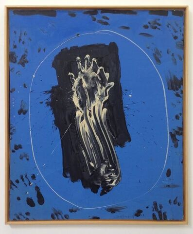 Emerson Woelffer, 'Blue Mirror White Hand', 1964