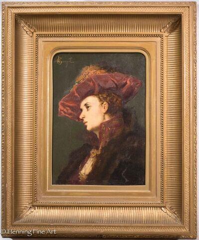 leon-Lucien Goupil, 'Portrait of Young Lady', ca. 1870