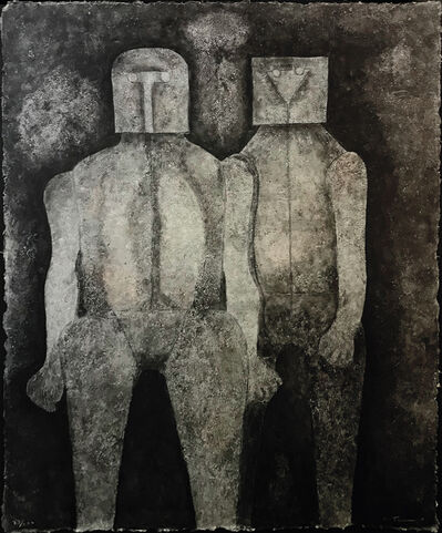 Rufino Tamayo, 'DOS HERMANOS', 1987