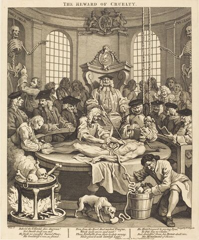 William Hogarth, 'The Reward of Cruelty', 1751
