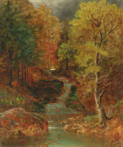 Ralph Albert Blakelock, 'Woodlands Glen with Stream', Late 19th century