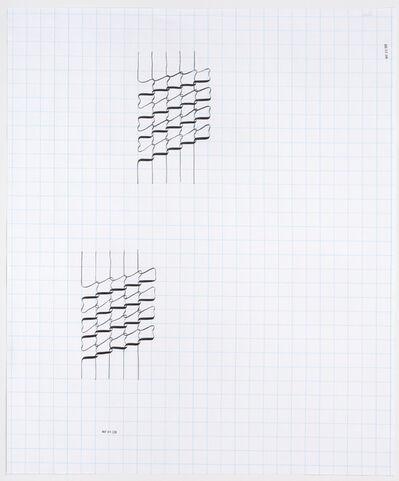 Tauba Auerbach, 'Ligature Drawing, May 04, 2020, May, 05, 2020', 2020