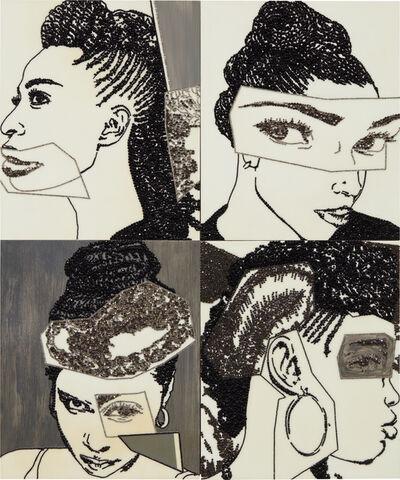 Mickalene Thomas, 'Hair Portrait 16', 2013
