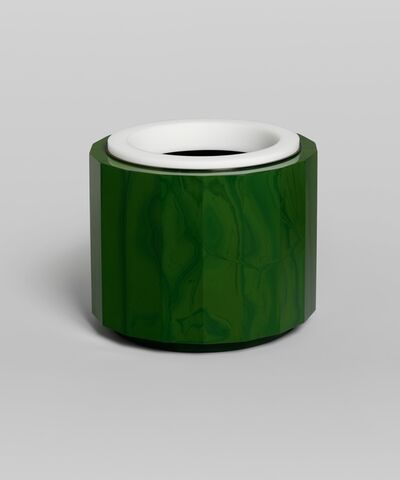 Anna Dickinson, 'Green faceted vessel ', 2015
