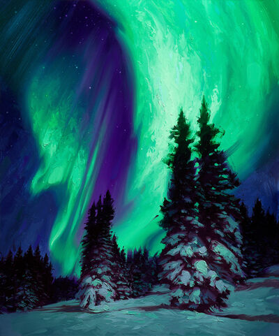 Rob Rey, 'Northern Lights', 2018
