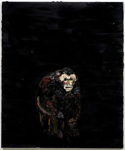 Allison Schulnik, 'Sitting Monkey #2', 2008