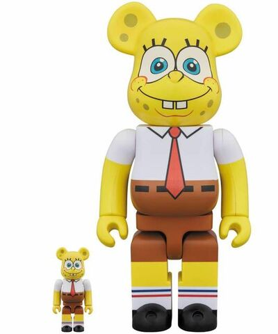 BE@RBRICK, 'Spongebob Squarepants 400%+100%', 2018