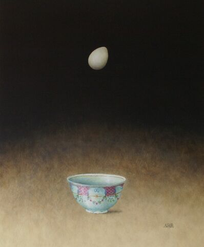 Alison Rankin, 'Turquoise Bowl with Falling Egg', 2019