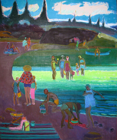 Joseph O'Sickey, 'Figures at the Beach'
