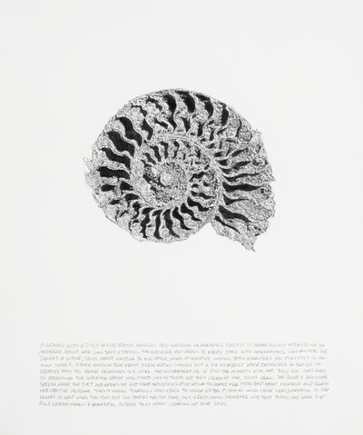 Jim Shaw, 'Dream Drawing (Nautilus: A Woman with a Dyed Blond Butch Haircut)', 1993