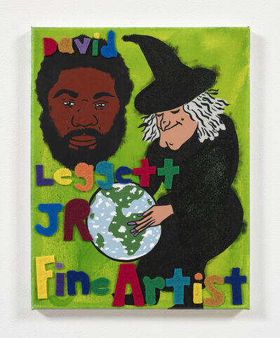 David Leggett, 'The whole world in his hands', 2020