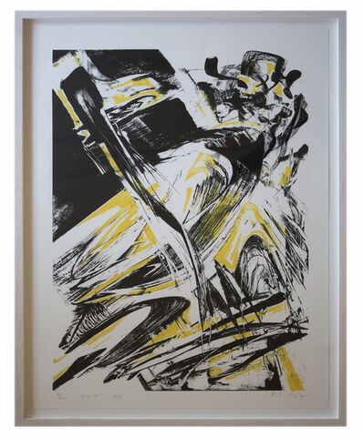 Karl Otto Götz, 'Untitled (yellow)', 1990
