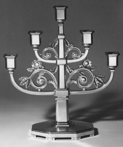 Tiffany & Company, 'Pair of Candelabra in the Style Moderne for the 1939 New York World's Fair', 1938-1939