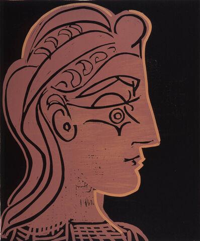 Pablo Picasso, 'B905 Tête de femme (de profil)', 1959
