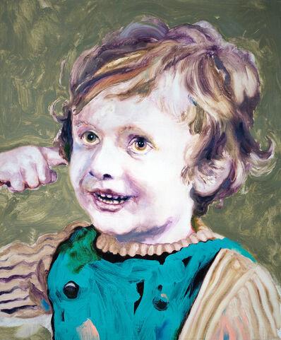 Ludovic Chemarin©, 'Ludovic Chemarin enfant sur fond vert', 2018