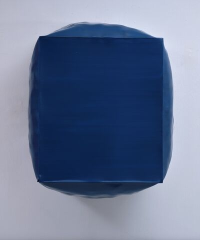 Angela de la Cruz, 'Burst (Blue)', 2014