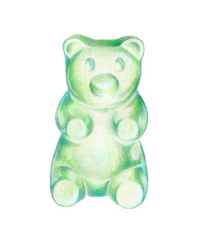 Kendyll Hillegas, 'Gummy Bear Green-Teal', 2017