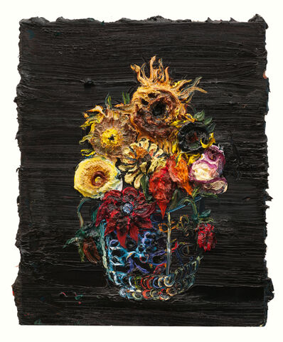 Allison Schulnik, 'October Flowers #3', 2012