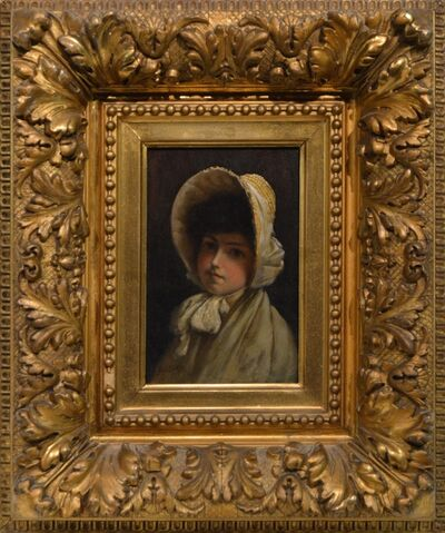 Charles Courtney Curran, 'Young girl in Bonnet'