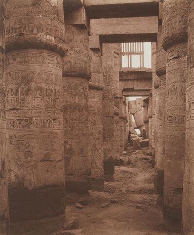 Félix Teynard, 'Karnak (Thèbes), Palais - Salle Hypostyle - Vue Transversale Prise du Point K', 1851-1852