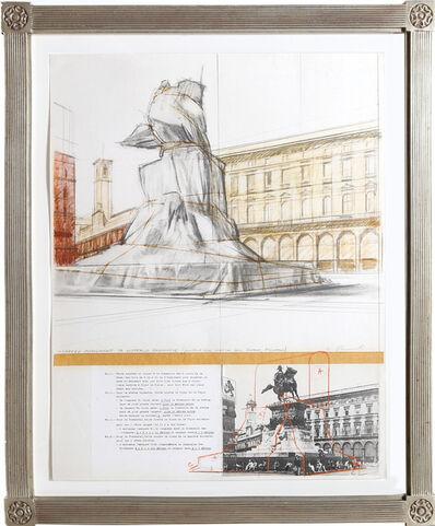 Christo, 'Wrapped Monument for Vittorio Emmanuelle', circa 1980