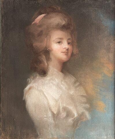 Italian School, 'Painting, pastel on paper, 1800s, portrait of a lady, 62x76 cm', XIX century
