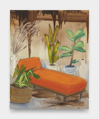 Tala Madani, 'Orange Chaise #2', 2019